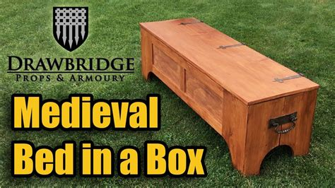 bed in a box medieval bed in box youtube