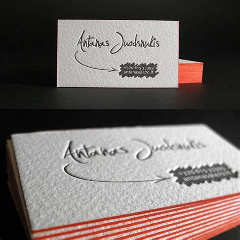 how to make letterpress business cards 30 inspiring exles of letterpress business cards design