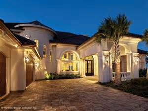 Eplans Mansions mediterranean house plan with 6079 square feet and 5 bedrooms from