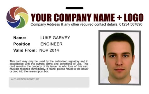make identification card free create your personalised company badge id card high