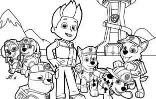 paw patrol color free coloring pages of paw patrol
