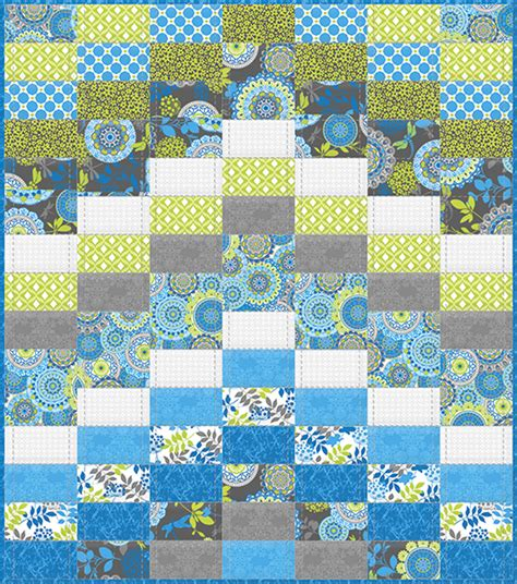 Lagoon Quilt by New Fabric Blue Lagoon Free Quilt Pattern Fabric