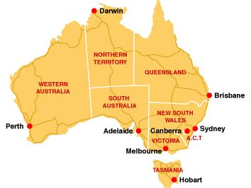 map of australia with capital cities oz city australia australian capital cities