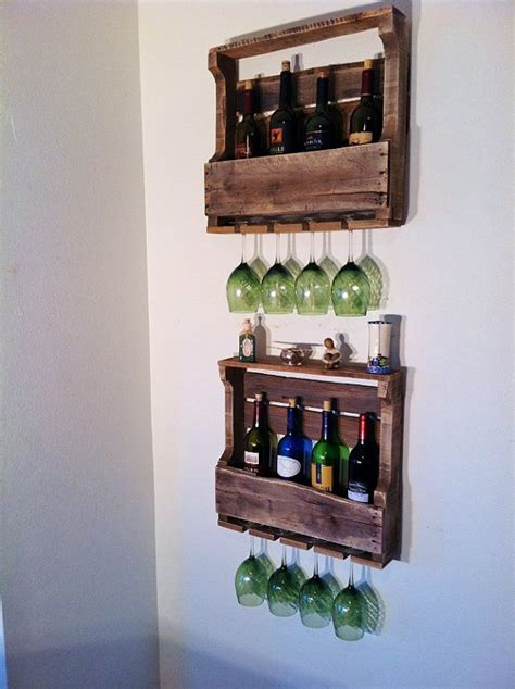 Handmade Wine Rack - items similar to wine rack rustic reclaimed wood