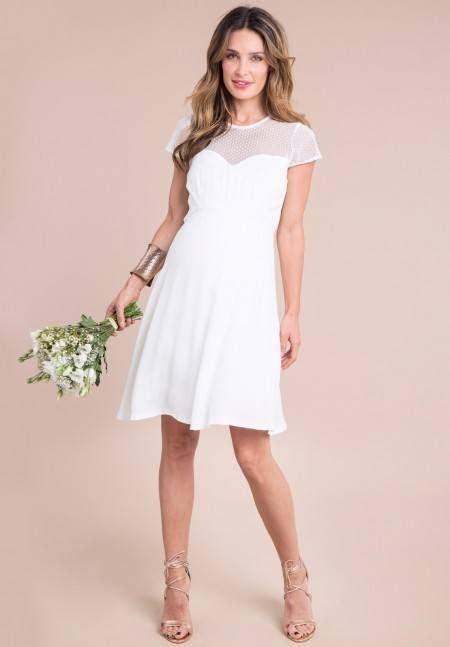 los vestidos de novia cortos para 2018 modaellas com vestidos de novia sencillos para embarazadas 2018
