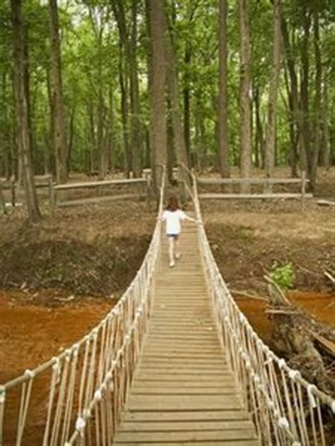 how to build a swinging bridge how to tie knots to build a rope bridge pinterest an