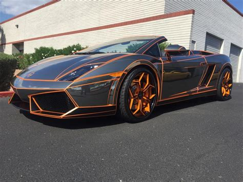black chrome lamborghini black chrome lamborghini signature graphics scottsdale