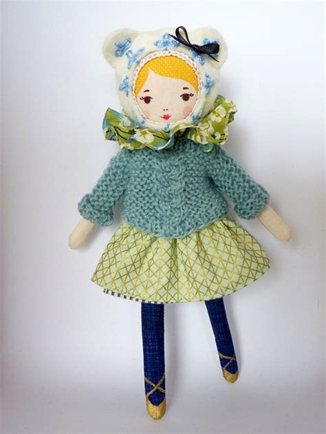 Handmade Dolls - mlle dimanche doll kit diy handmade doll tutorial how
