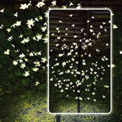 outdoor solar tree lights 4ft 120 led solar powered blossom bonsai tree outdoor