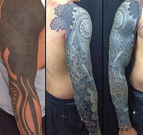 tribal tattoo cover up before after 55 cover up tattoos before and after sleeve