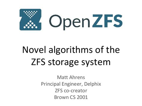 Resume Zfs Send by Openzfs Novel Algorithms Snapshots Space Allocation