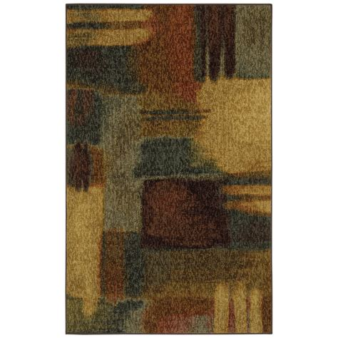 accent rug shop mohawk home montage rectangular multicolor accent rug common 3 ft x 5 ft actual 45 in x