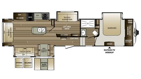 cougar fifth wheel floor plans 2018 keystone cougar 359mbi cer ebay