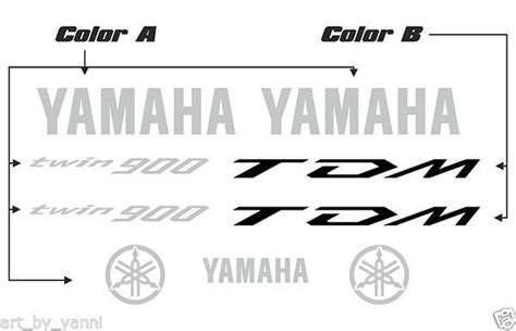 Aufkleber Yamaha Tdm 900 by Yamaha Tdm 900 High Quality Decals Set And 50 Similar Items