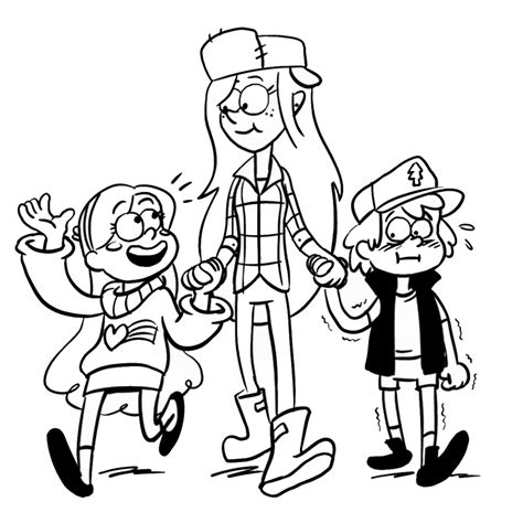 gravity falls bill coloring coloring pages
