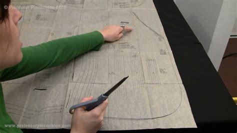 clothes pattern cutting how to cut out sewing pattern pieces youtube