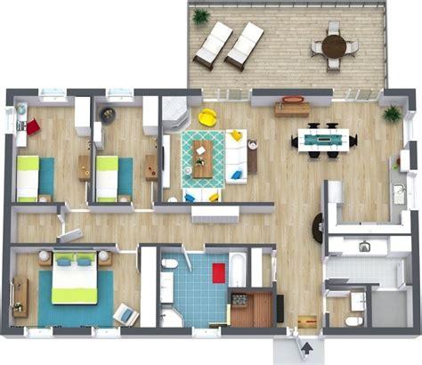 2 bedroom floor plans roomsketcher проекты одноэтажных домов с тремя спальнями удачные