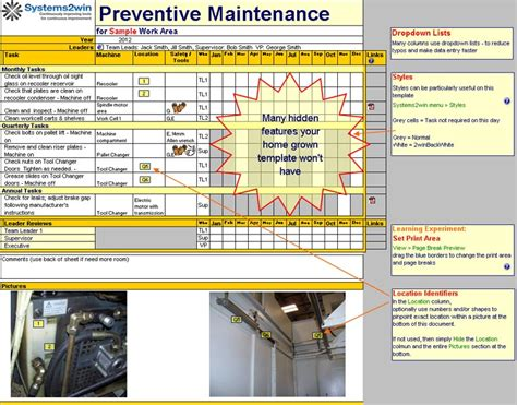 Maintenance Schedule Template Preventive Maintenance Checklist Preventive Maintenance Template