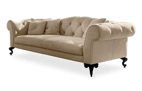 Quilted Couches by Upholstered Quilted Sofa In Classic Style Idfdesign