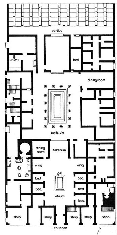 pompeii house plan plan of the house of pansa pompeii notice the axial