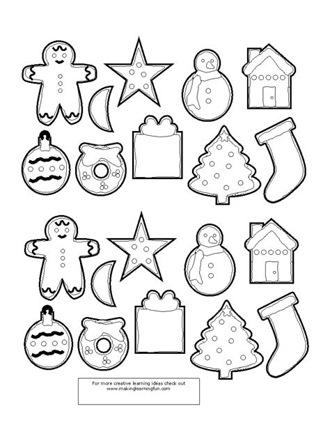 small christmas coloring pages ornaments fun learning printables for kids