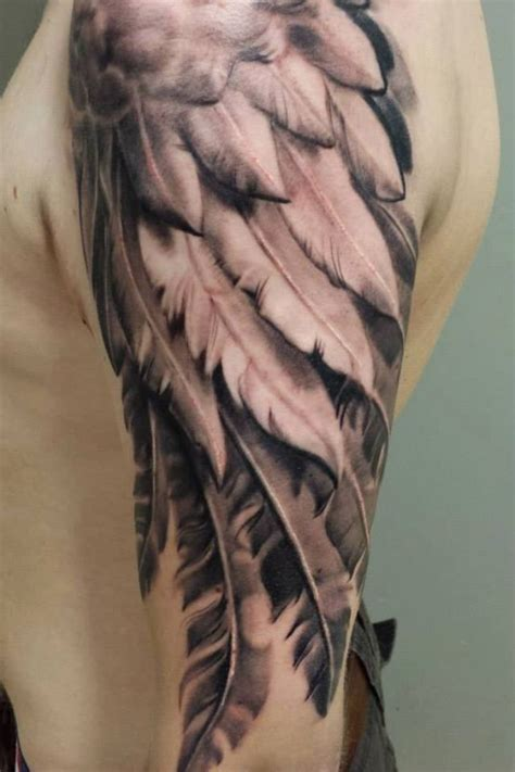 tattoo upper arm designs wing tattoos on arm elaxsir