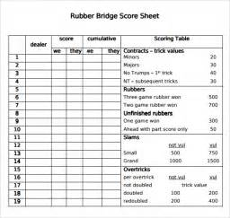 bridge tally template bridge tally template bestsellerbookdb