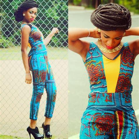 Nice Kente Ankara Jumpsuit | janetfashionandstyles african print dresses