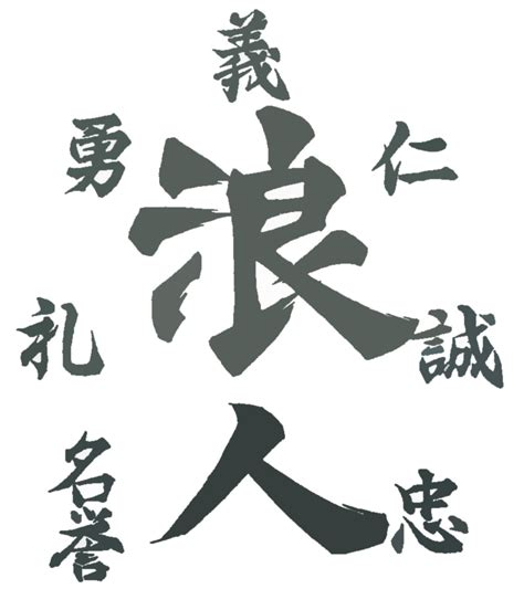 collection of 25 bushido kanji tattoo design