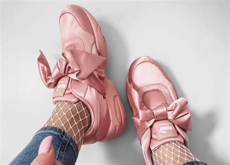 Rihanna Bow Crepers White snobette ten styling the by fenty bow top sneaker