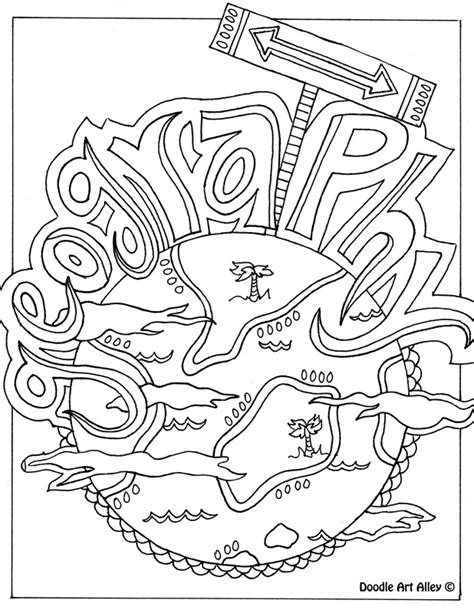 geography coloring book subject cover pages coloring pages classroom doodles