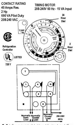 defrost clock wiring diagram defrost timer 8141 20 wiring diagram get free image