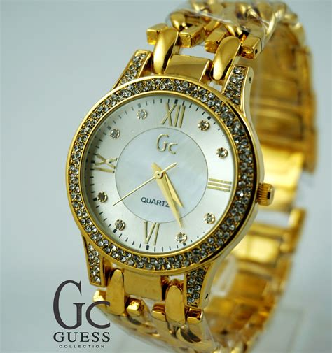 Murah Jam Tangan Guess Romawi Sabit Rantai Gold Gs004 guess collection romawi ulir gold kucikuci shop jam tangan murah