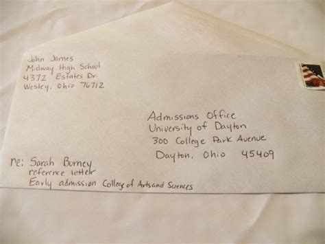 how to address envelopes for college recommendation letters owlcation