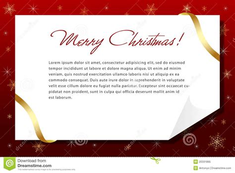 A Christmas Letter Stock Vector Illustration Of Elegant 20331895 Merry Business Letter Template