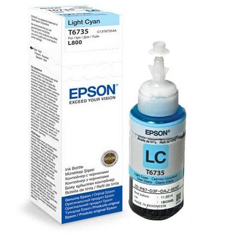 Promo Ori Tinta Epson T6735 Light Cyan epson t6735 light cyan ink bottle 70ml best value fast delivery