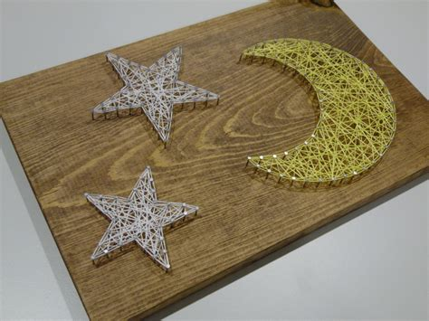 string art pattern moon moon string art star and moon string art nursery by