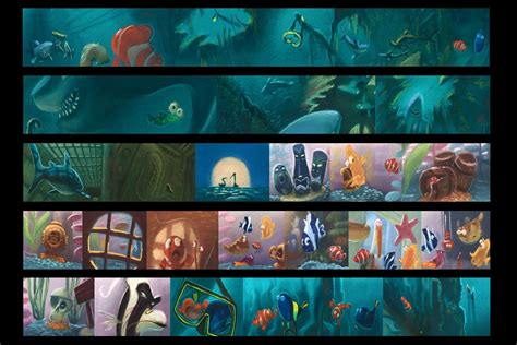 Disney Pixar Finding Dory Paint Palette Book pin by simon ong on color scripts storyboards