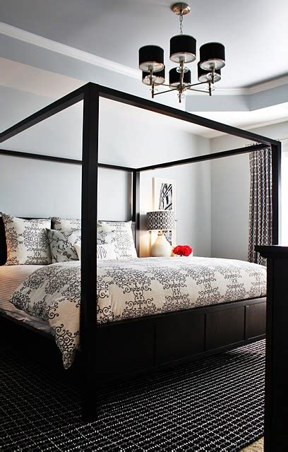black canopy beds black canopy bed contemporary bedroom emily a clark