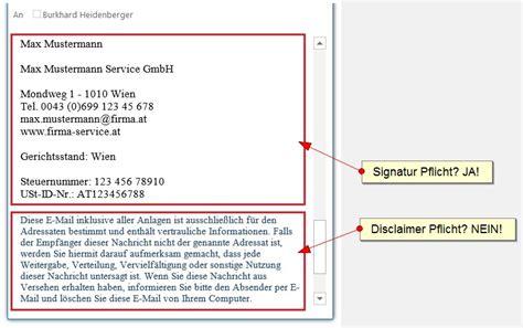 Impressum Schreiben Muster E Mail Disclaimer Pflicht Oder Nicht Fragen Antworten Inkl Muster Zeitbl 252 Ten