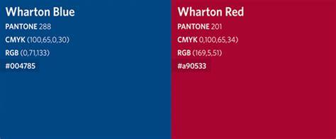 Wharton Class Code Mba by Wharton School Colors Identity Kit