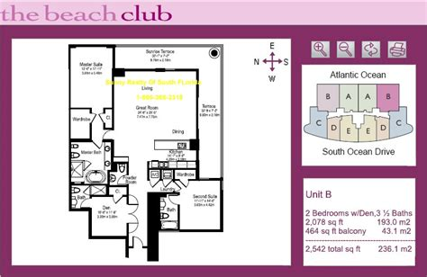 Beach Club Hallandale Floor Plans | beach club iii hallandale 1800 south ocean dr florida