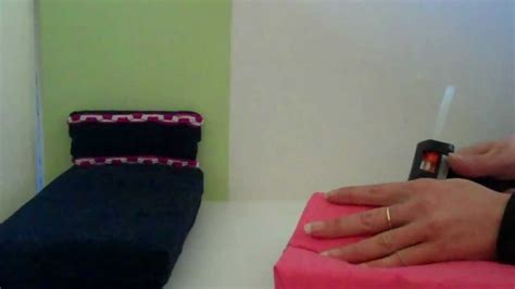 how to make a barbie bed how to make a doll bed very easy barbie size youtube