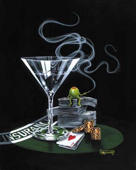 martini painting art country canada michael godard