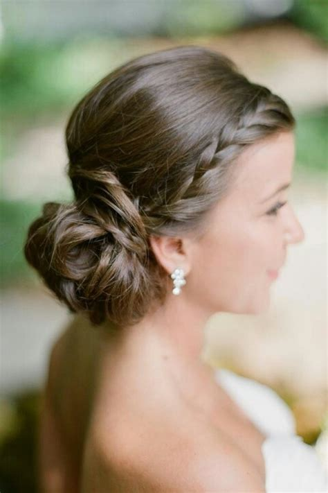 hairbuns on pinterest french braid buns updo and updos braid with side chignon bridal hair updo hairstyles