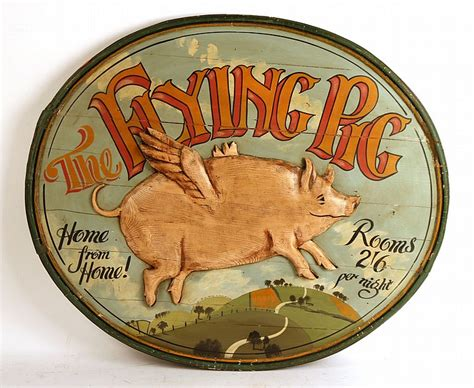 antique flying pig table l oval flying pig trade sign