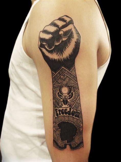 white power tattoos freedom black power