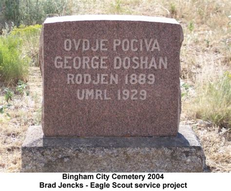 Yugoslavia Birth Records Utgenweb Salt Lake County Bingham City Cemetery
