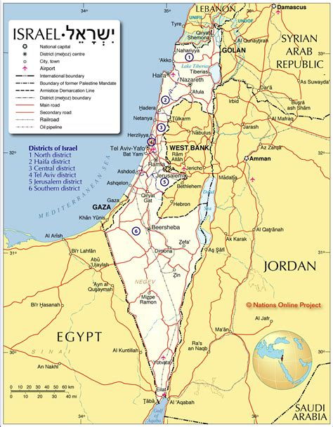 isreal map israel judaism the state of israel