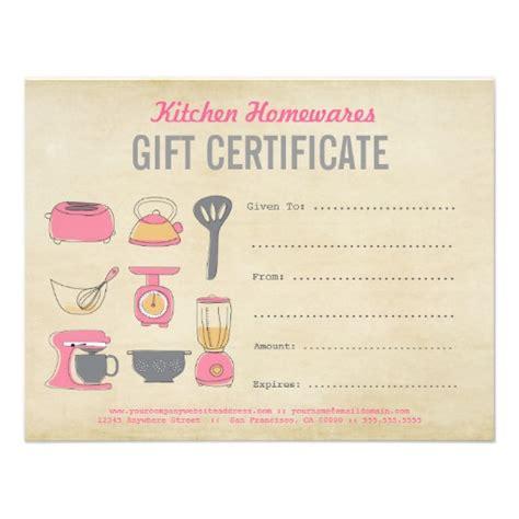 kitchen design certificate kitchen homewares gift certificate gift voucher diy